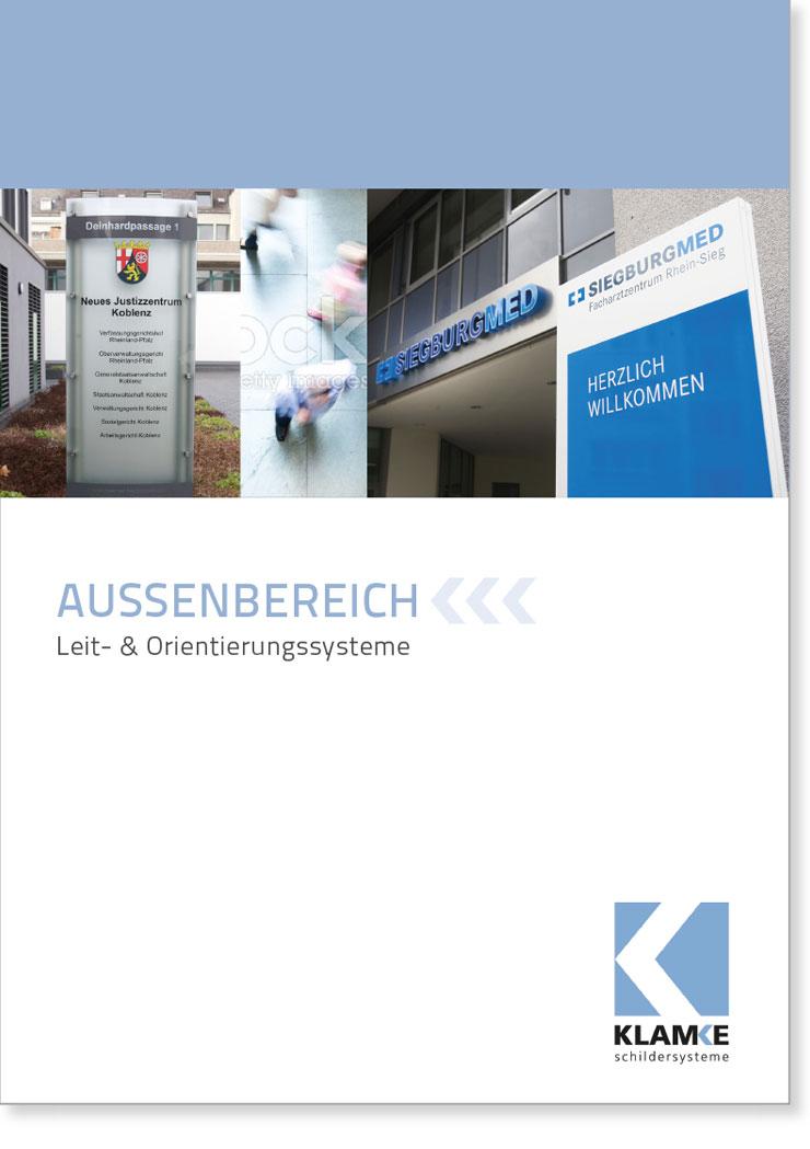 Klamke Schildersysteme: Broschüre Aussen