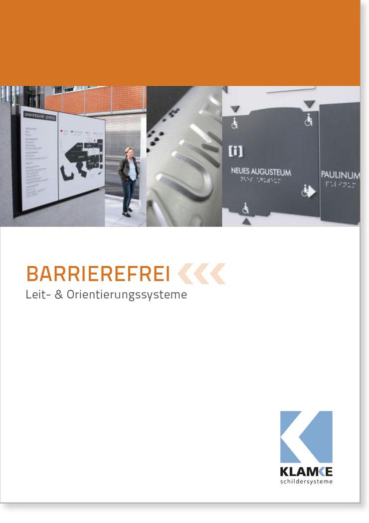 Klamke Schildersysteme: Broschüre Barrierefrei