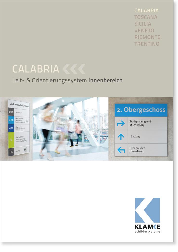 Klamke Schildersysteme: Broschüre Calabria