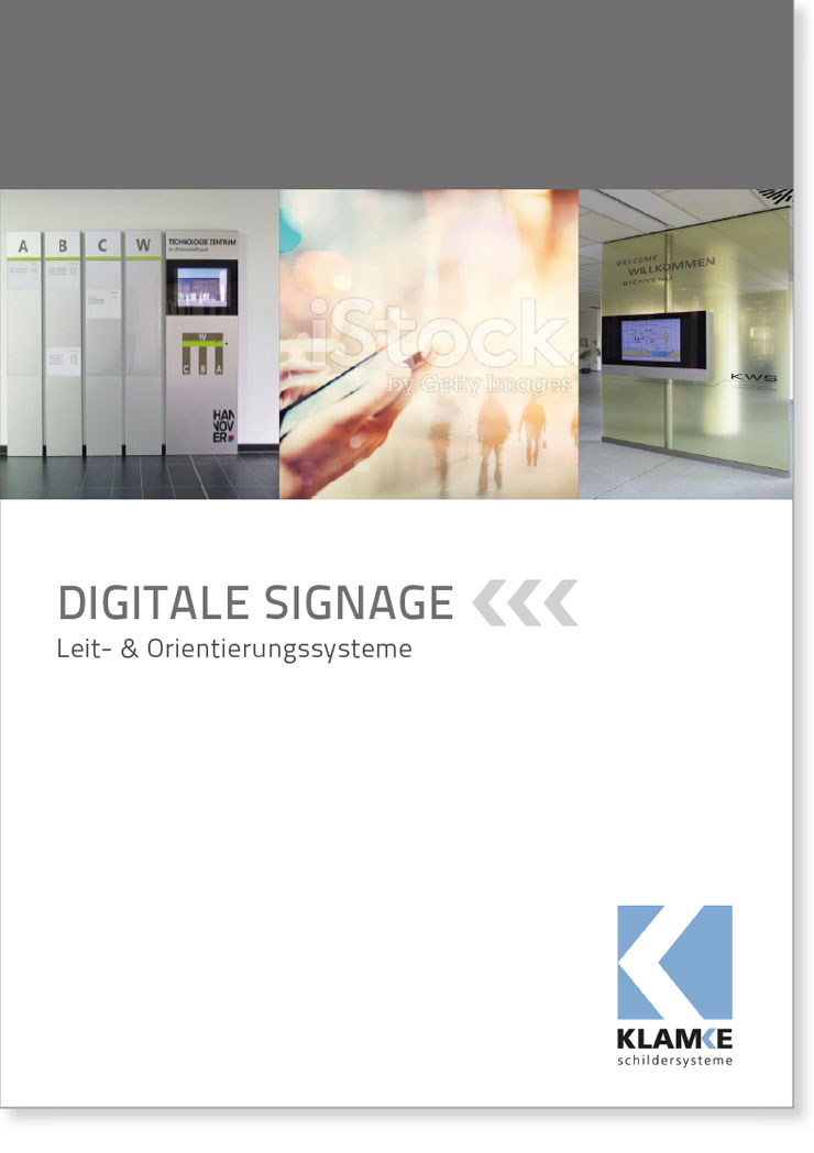 Klamke Schildersysteme: Broschüre Digital