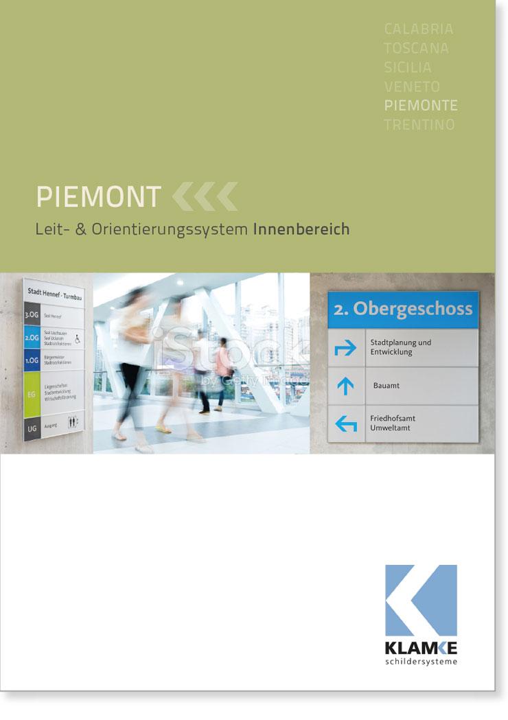 Klamke Schildersysteme: Broschüre Piemont