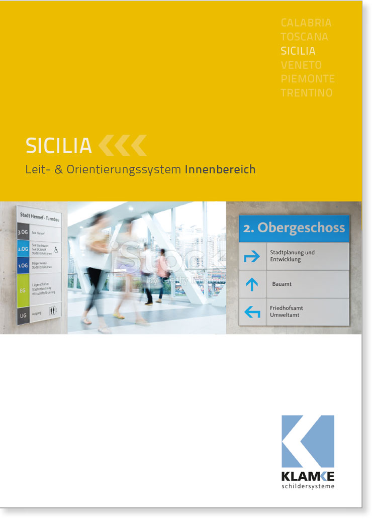 Klamke Schildersysteme: Broschüre Sicilia
