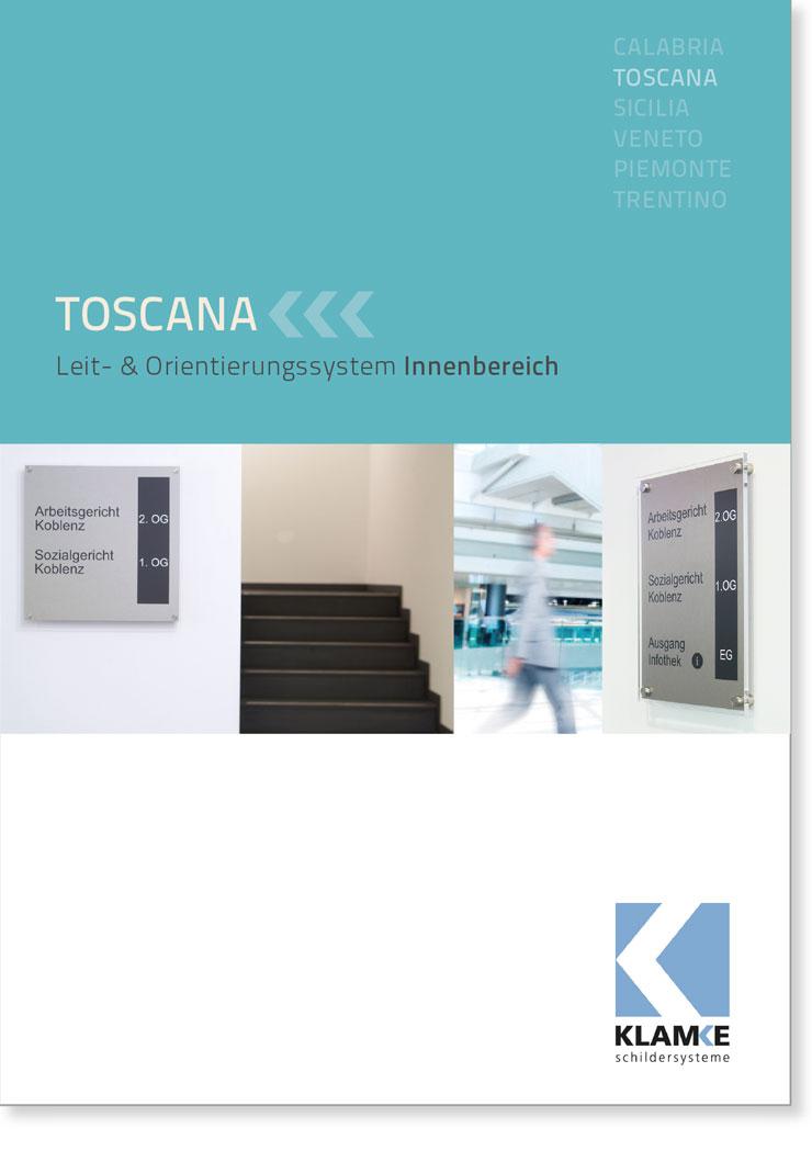 Klamke Schildersysteme: Broschüre Toscana