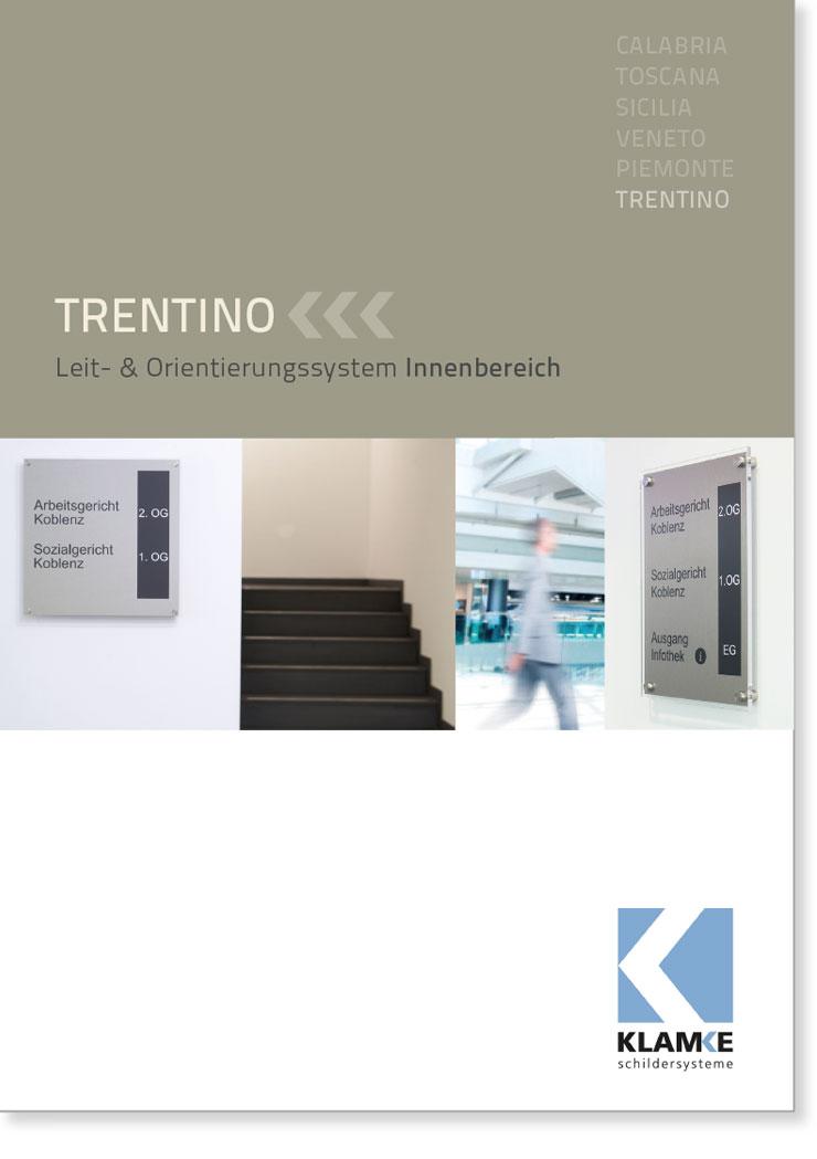 Klamke Schildersysteme: Broschüre Trentino