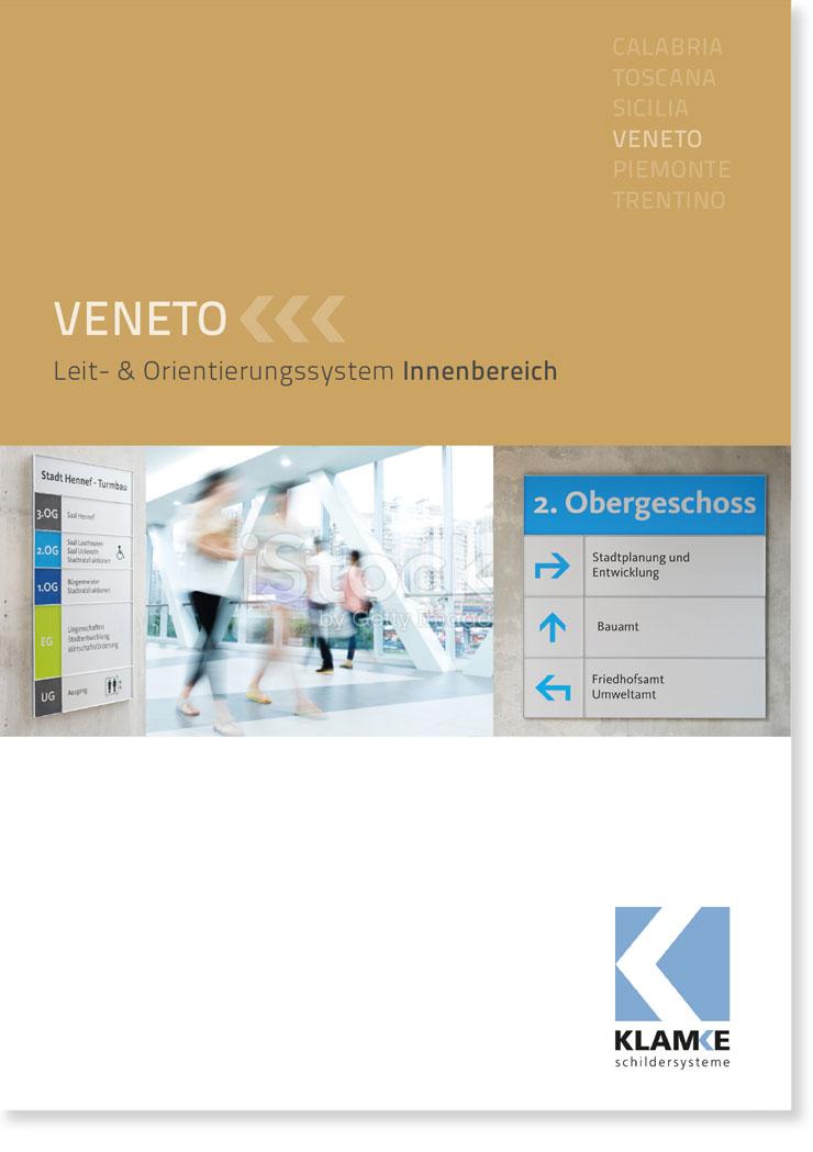 Klamke Schildersysteme: Broschüre Veneto